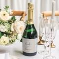 Flaschenetiketten Hochzeit Modern Minimalist gratuit