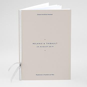 Kirchenheft zur Hochzeit individuell gestalten - Modern Minimalist - 0