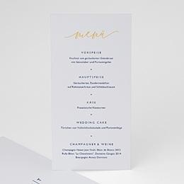 Menükarten Hochzeit Modern Minimalist