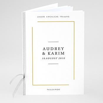 Kirchenheft zur Hochzeit individuell gestalten - Love Letters - 0