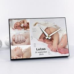 Fotouhr Geburt Miniaturfotos