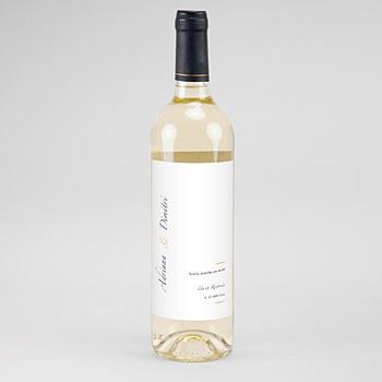 Flaschenetiketten Hochzeit - Minimal Script - 0