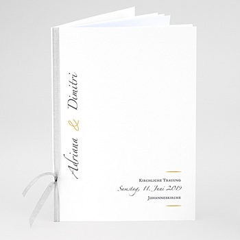 Kirchenheft zur Hochzeit individuell gestalten - Minimal Script - 0