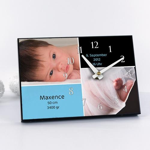 Personalisierte Fotouhr Babyfotos