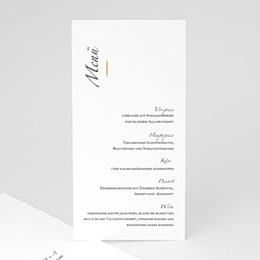 Menükarten Hochzeit Minimal Script