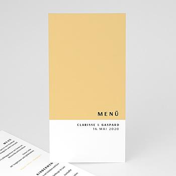 Menükarten Hochzeit - Amber - 0