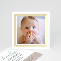 Dankeskarten Geburt Jungen Danke Gold