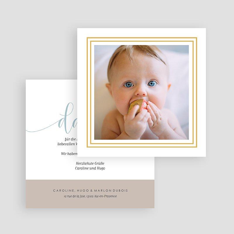 Dankeskarten Geburt Jungen Danke Gold gratuit