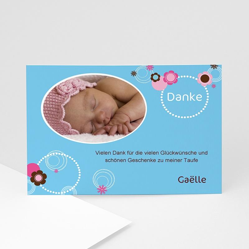 Dankeskarten Taufe Jungen Viola
