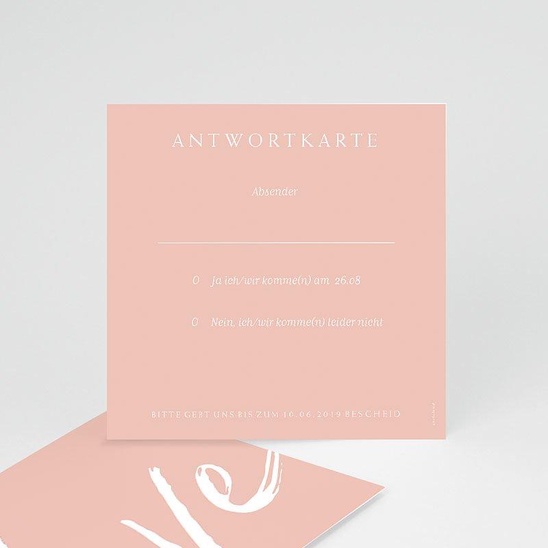 Einladungskarten Hochzeit Love rosé, 10 x 10