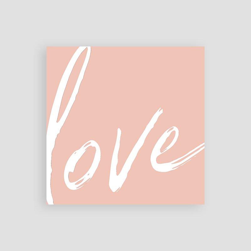 Einladungskarten Hochzeit Love rosé, 10 x 10 pas cher