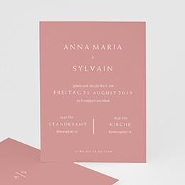 Einlegekarten Hochzeit Love rosé