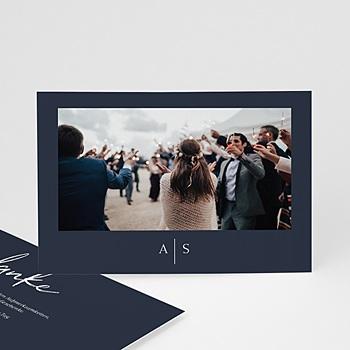 Dankeskarten Hochzeit - Love Blue - 0