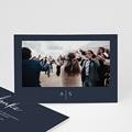Dankeskarten Hochzeit - Love Blue 66333 thumb