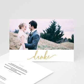 Stilvolle Danksagung Hochzeit - Orchidee Gold - 0