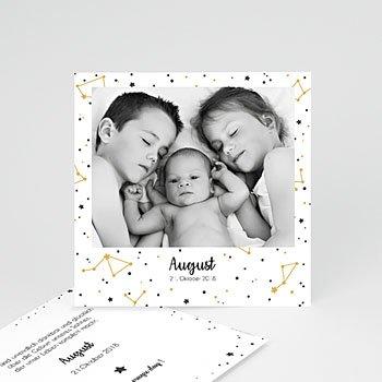 Geburtskarten mit Geschwistern - Konstellation Fptp - 0