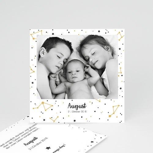 Geburtskarten mit Fotos Konstellation Fptp