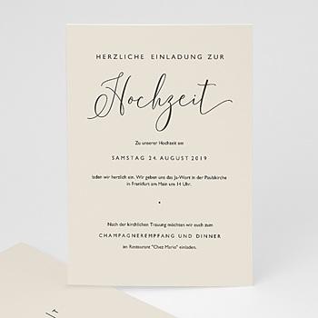 Elegante Hochzeitskarten  - Nude Chic - 0
