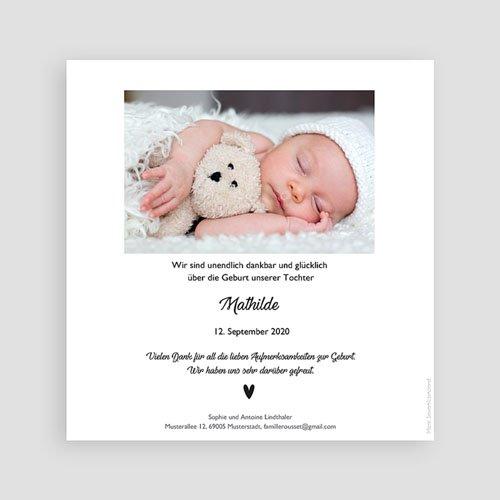 Geburtskarten für Mädchen Schwanenkind pas cher