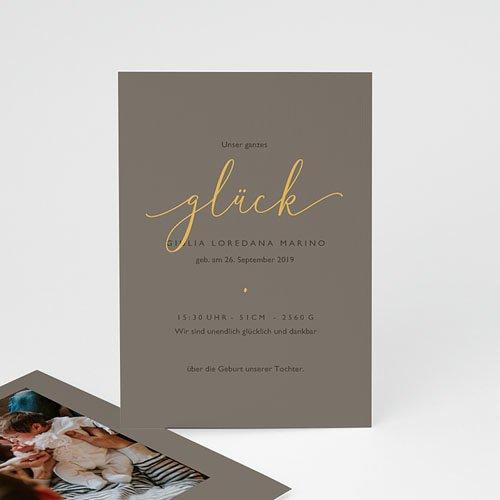 Geburtskarten für Mädchen Goldkind