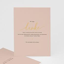 Danksagungskarten Geburt Pastell Rose