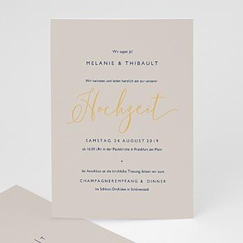 Einladungskarten Hochzeit  - Modern Minimalist - 0