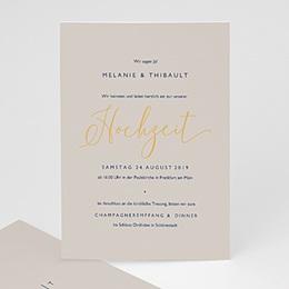 Einladungskarten Hochzeit  Modern Minimalist