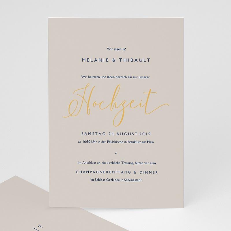 Elegante Hochzeitskarten  - Modern Minimalist 66531 thumb