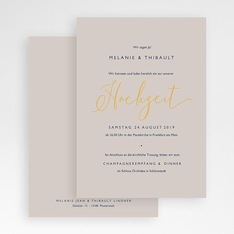 Elegante Hochzeitskarten  - Modern Minimalist 66533 thumb