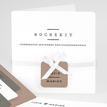 Einladungskarten Hochzeit  - Hazelnut - 0