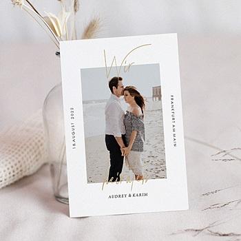 Hochzeitskarten mit Foto - Love Letters - 0