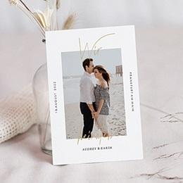 Hochzeitskarten mit Foto Love Letters