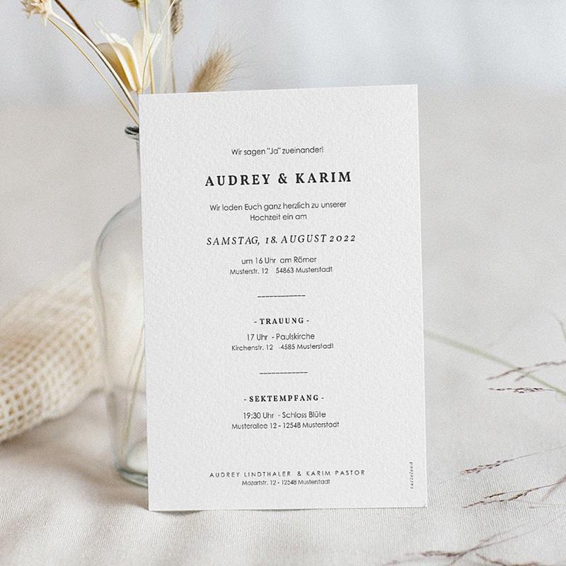 Hochzeitseinladungen Love Letters pas cher