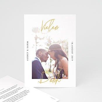 Dankeskarten Hochzeit mit Foto Love Letters