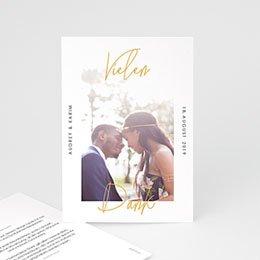 Danksagungskarten Hochzeit Love Letters