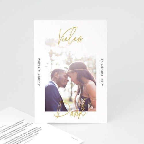 Dankeskarten Hochzeit mit Foto - Love Letters 66615 thumb