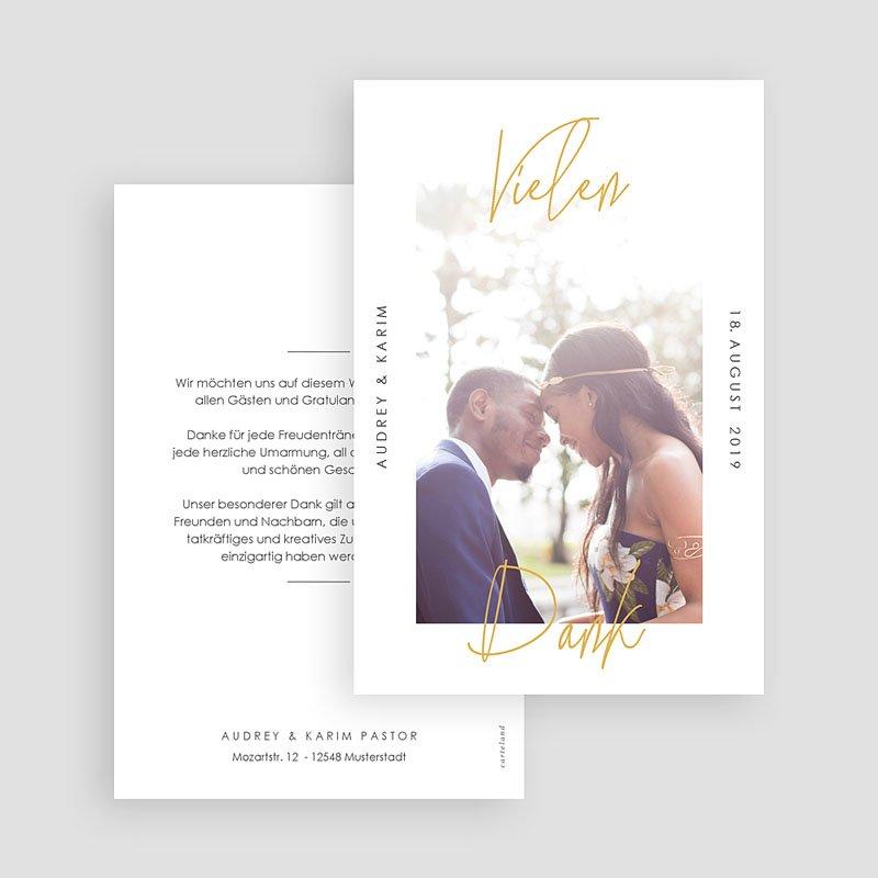 Dankeskarten Hochzeit mit Foto - Love Letters 66617 thumb