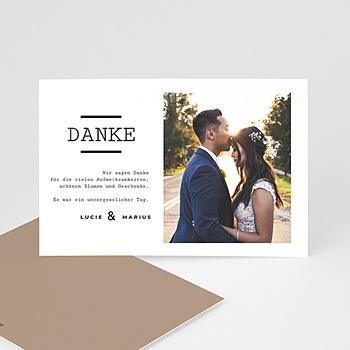 Dankeskarten Hochzeit mit Foto - Hazelnut - 0