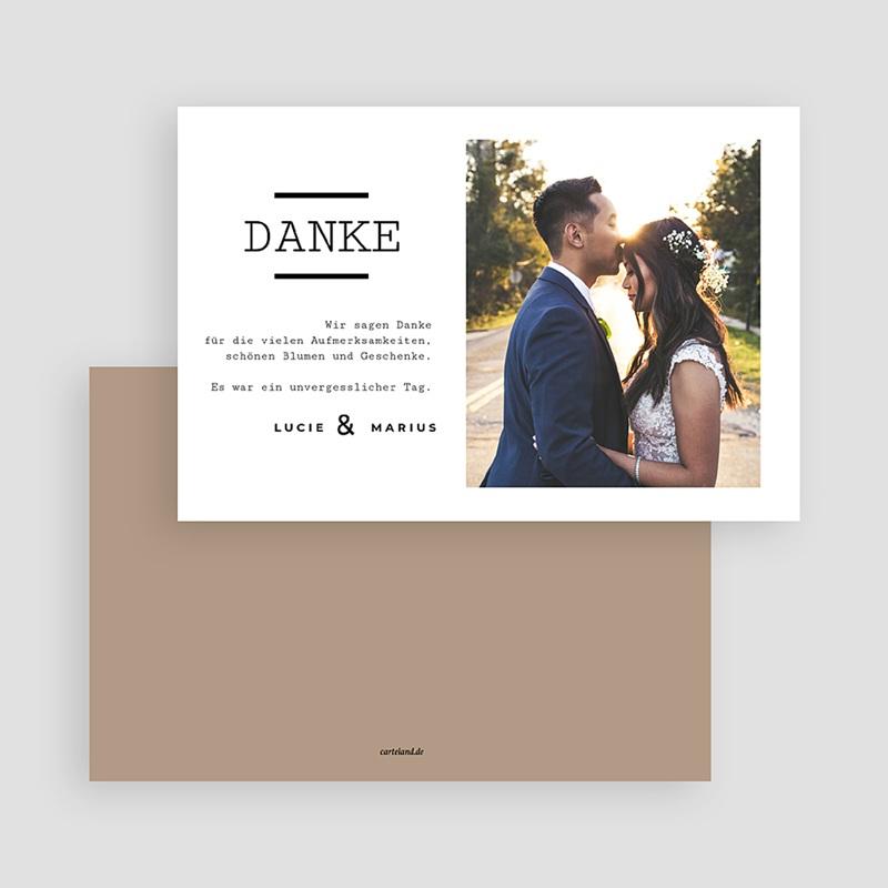 Dankeskarten Hochzeit mit Foto - Hazelnut 66626 thumb