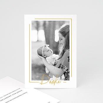 Dankeskarten Geburt Mädchen - Baby Girl Gold - 0