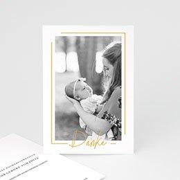 Dankeskarten Geburt Mädchen Baby Girl Gold