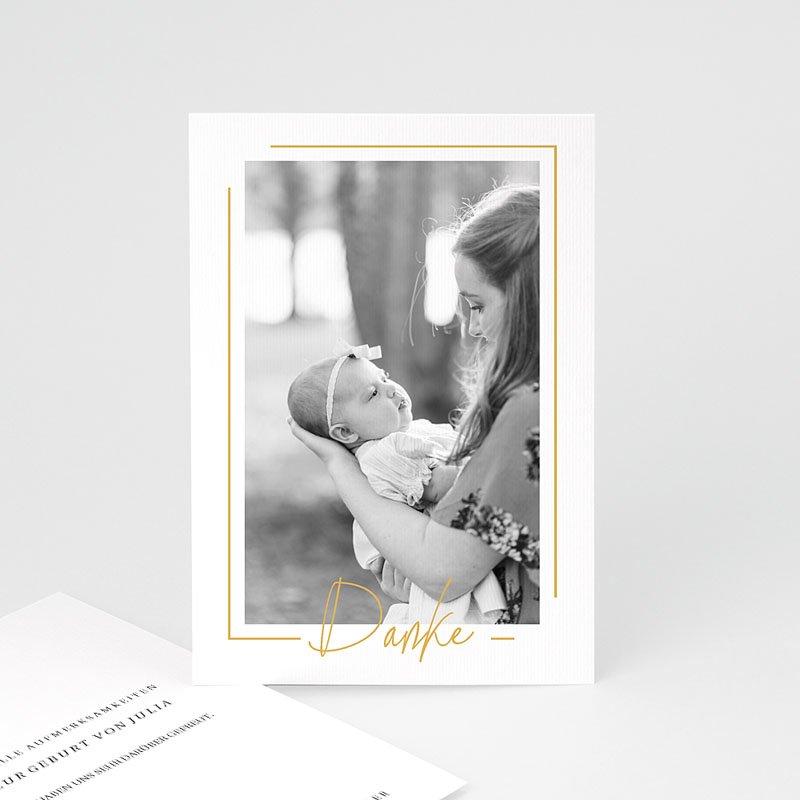 Dankeskarten Geburt Mädchen - Baby Girl Gold 66651 thumb