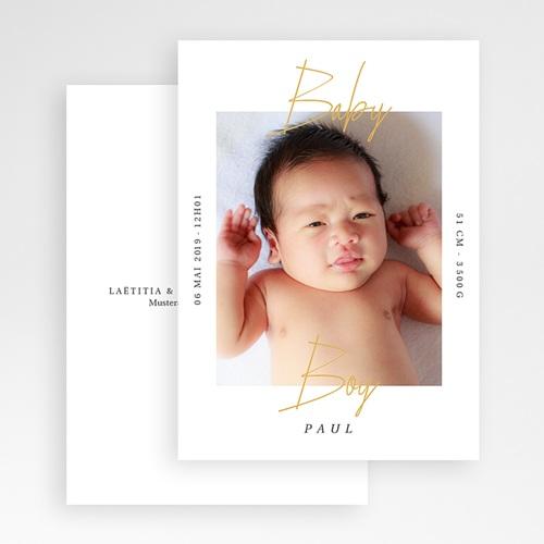 Geburtskarten für Jungen Baby Boy Gold gratuit