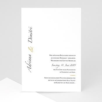 Klassische Hochzeitskarten  - Minimal Script - 0