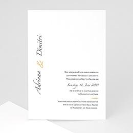Karten Hochzeit Minimal Script
