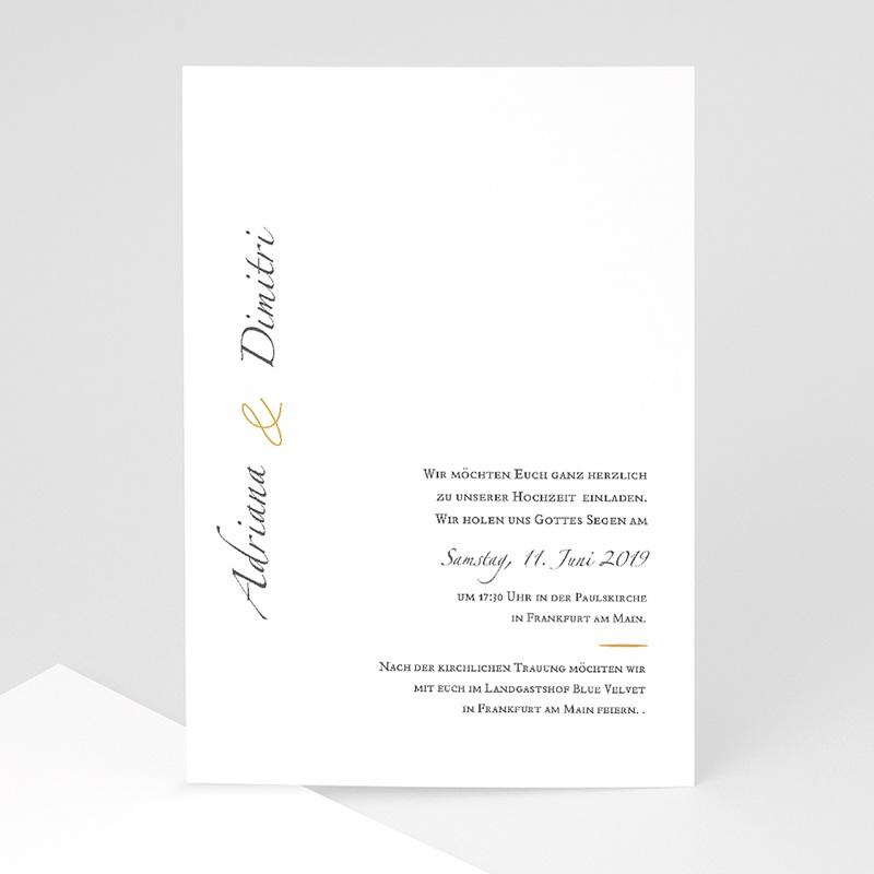 Klassische Hochzeitskarten  Minimal Script