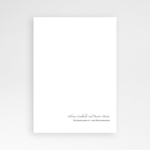 Klassische Hochzeitskarten  Minimal Script pas cher