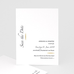 Save The Date  Minimal Script