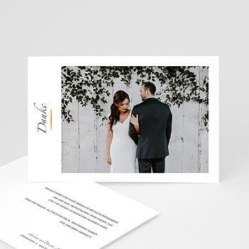 Klassische Dankeskarten Hochzeit  - Minimal Script - 0