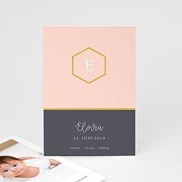 Geburtskarten für Mädchen Pastell Rosé